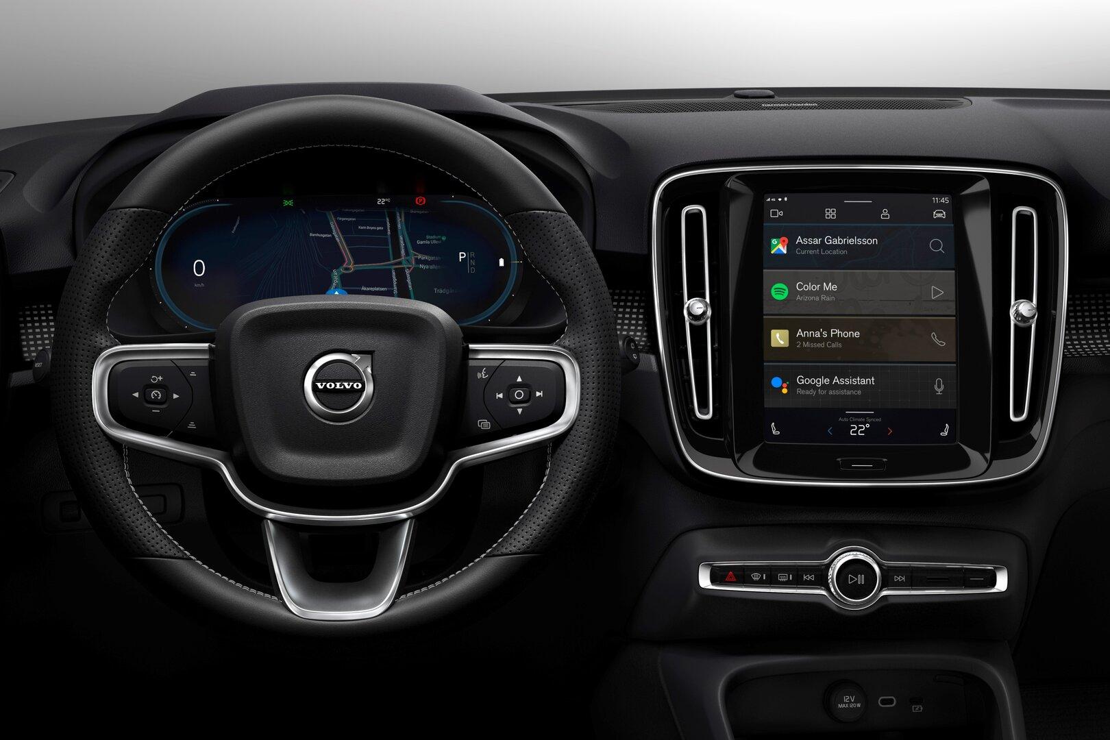 Neues Android-Infotainmentsystem im elektrischen Volvo XC40