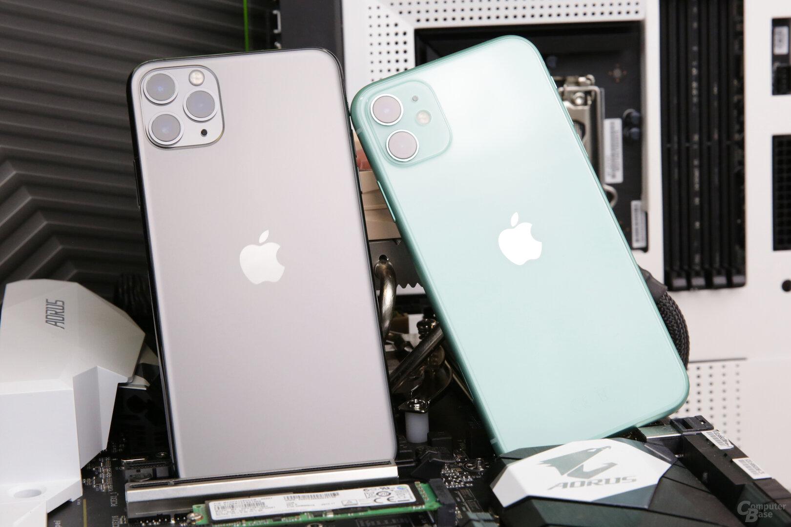 iPhone 11 Pro Max mit matter Rückseite, iPhone 11 mit glänzender