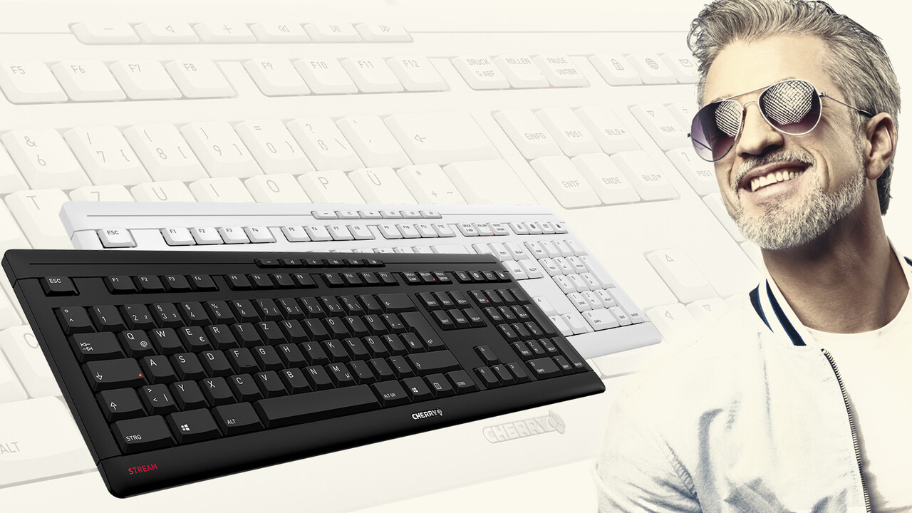 Cherry Stream: Flache Tastatur wird leiser und bekommt mehr Tasten