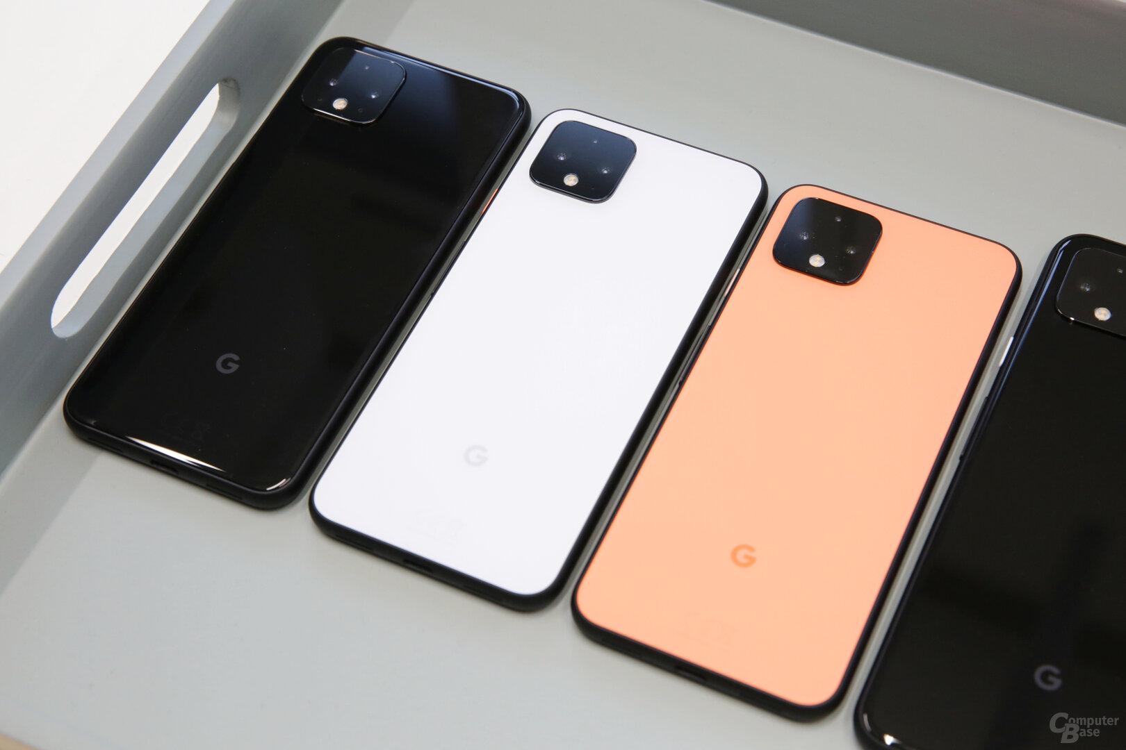 Nur das kleine Pixel 4 mit 64GB kommt im neuen Orange