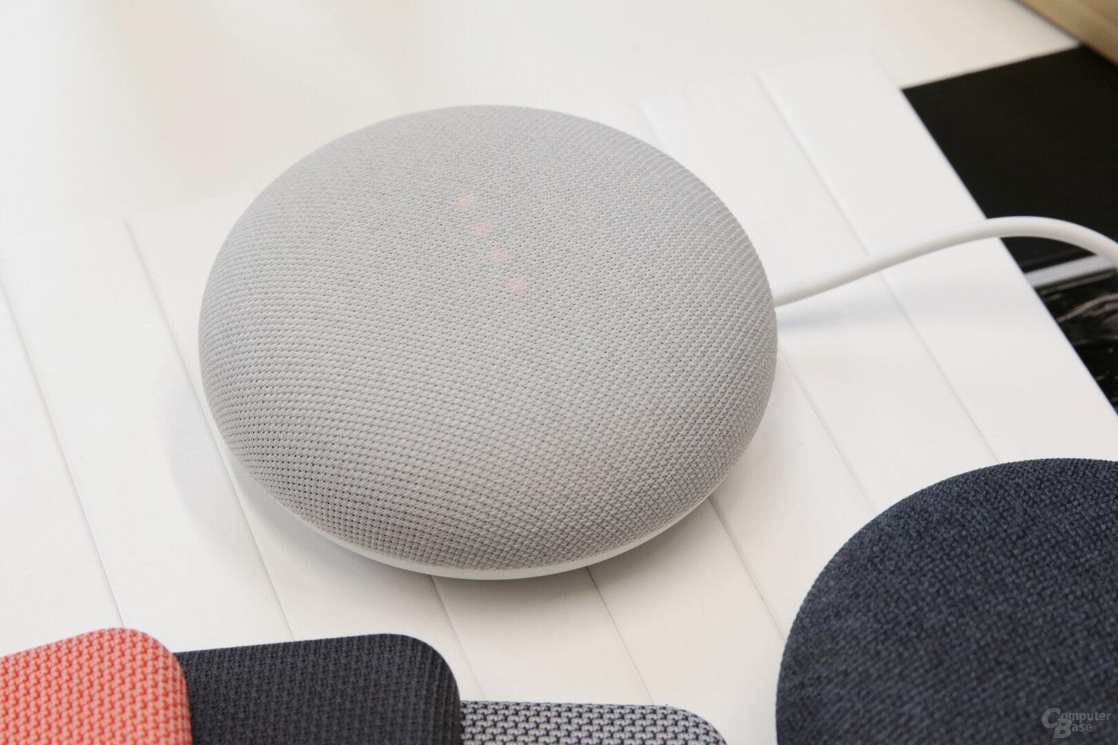 LED für die Lautstärke und den Google Assistant