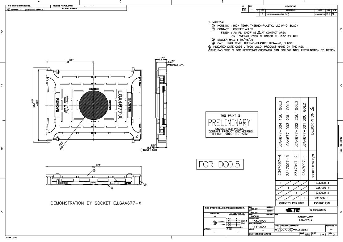 Intel Sockel LGA 4677 für Sapphire Rapids