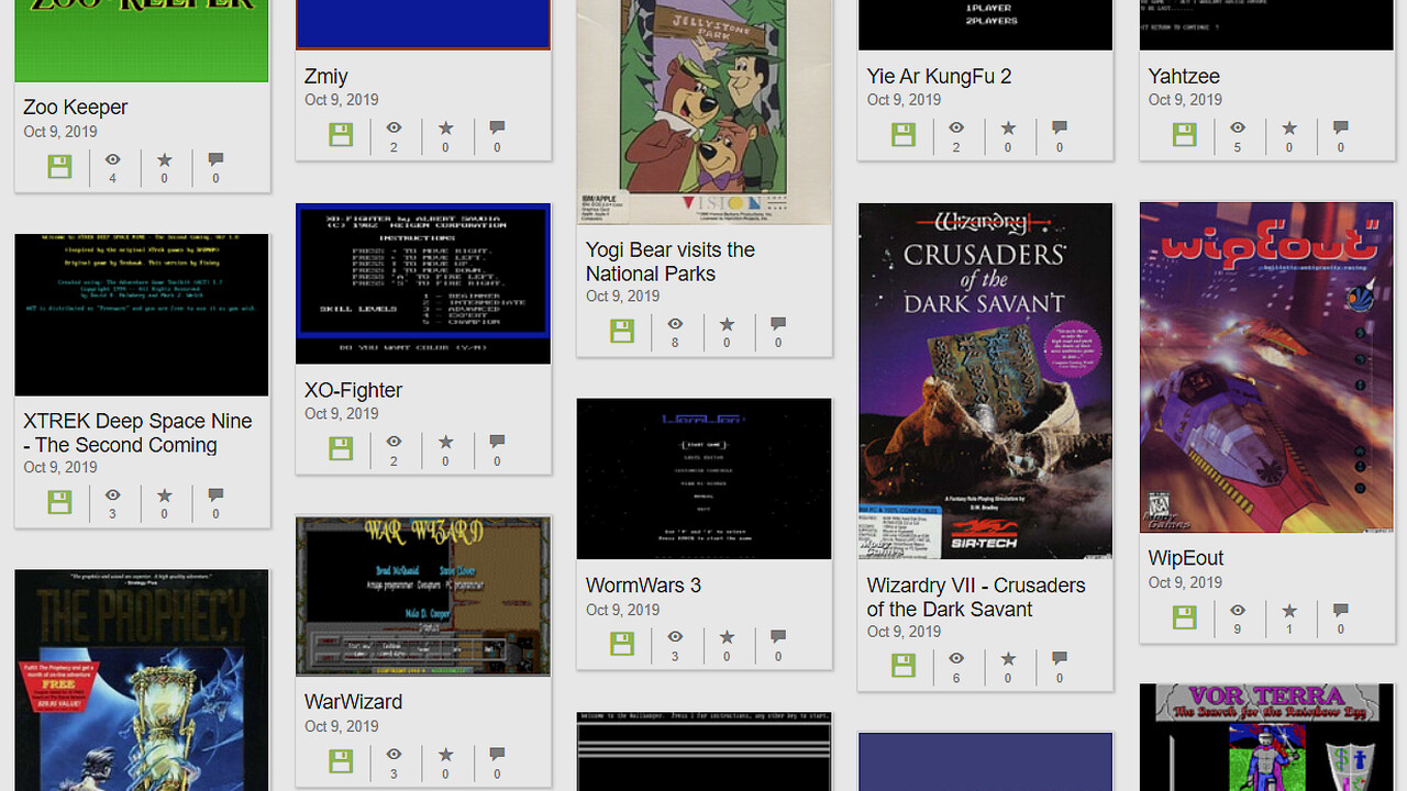 The Internet Archive: 2.500 weitere MS-DOS-Games im Browser spielbar