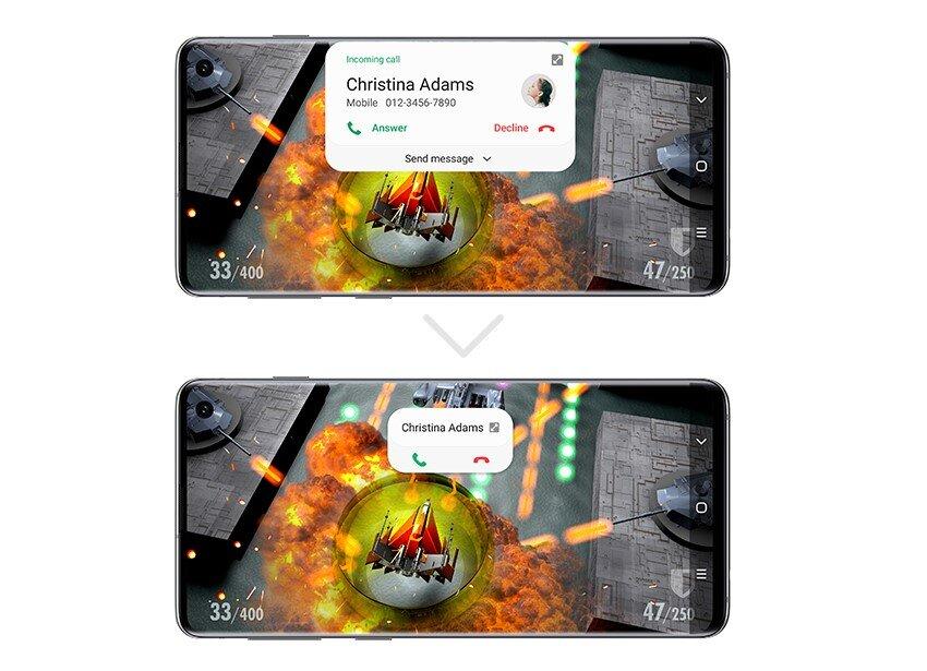 Android 10 mit One UI 2: Kleinere Benachrichtigungen