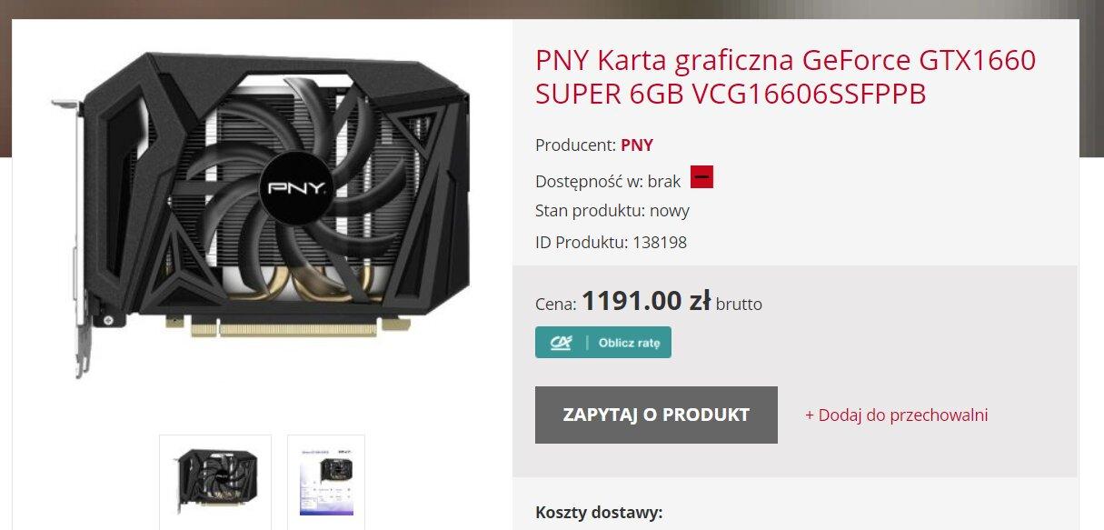 PNY GTX 1660 Super