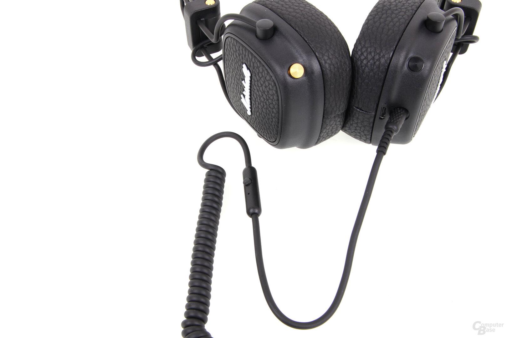 Marshall Major III Voice: Audiokabel mit Mikro und Fernbedienung