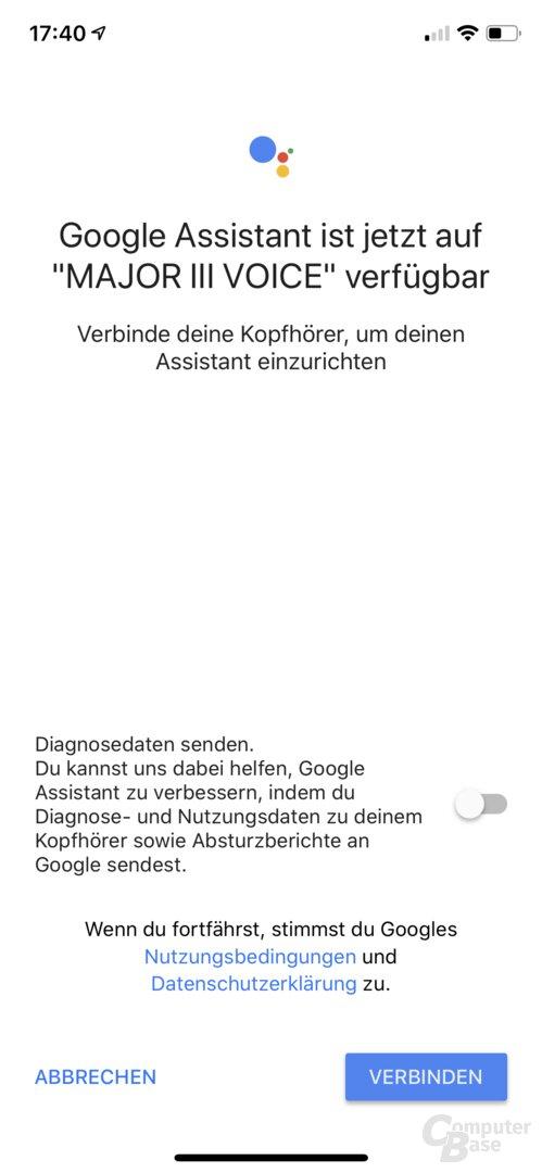 Google Assistant für den Marshall Major III Voice einrichten