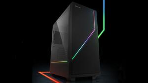 Sharkoon RGB Flow: Gehäuse zieht LED-Streifen von der Front zur Seite