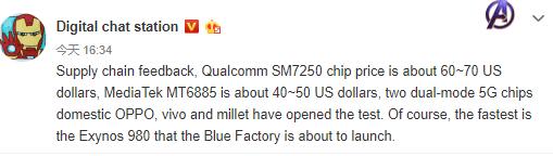 Snapdragon SM7250 und MediaTek 5G SoC mit Preisvorstellung