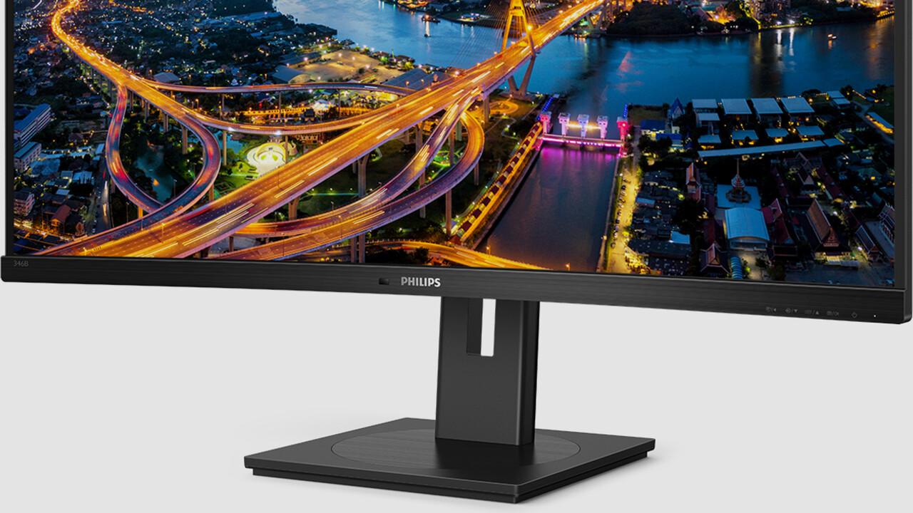 Philips 346B1C: Curved-Monitor mit 100 Hz und USB-C-Dockingstation