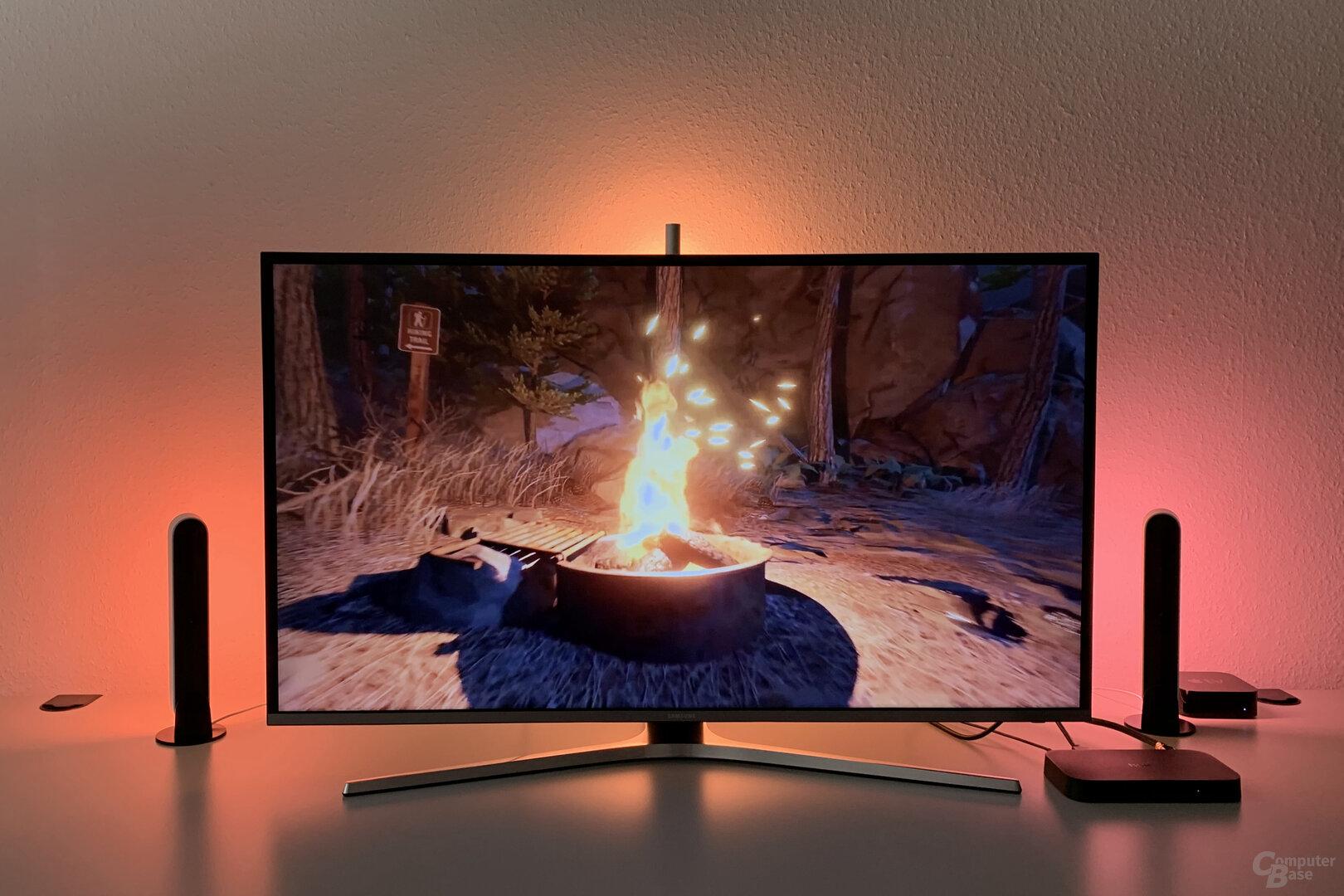 Farbwiedergabe bei der Philips Hue Play HDMI Sync Box