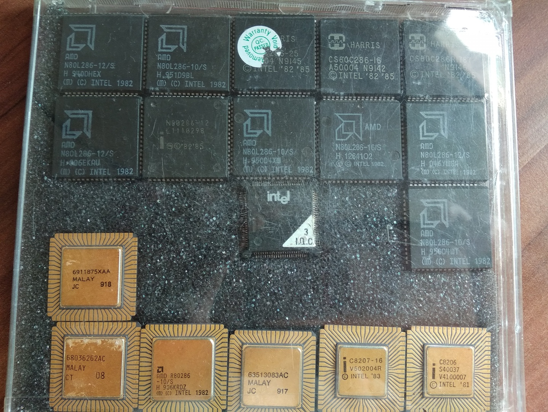 Eine Sammlung 286er von AMD und Intel