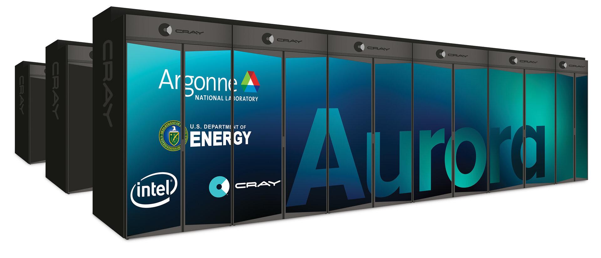 Die beiden Supercomputer Aurora und ...