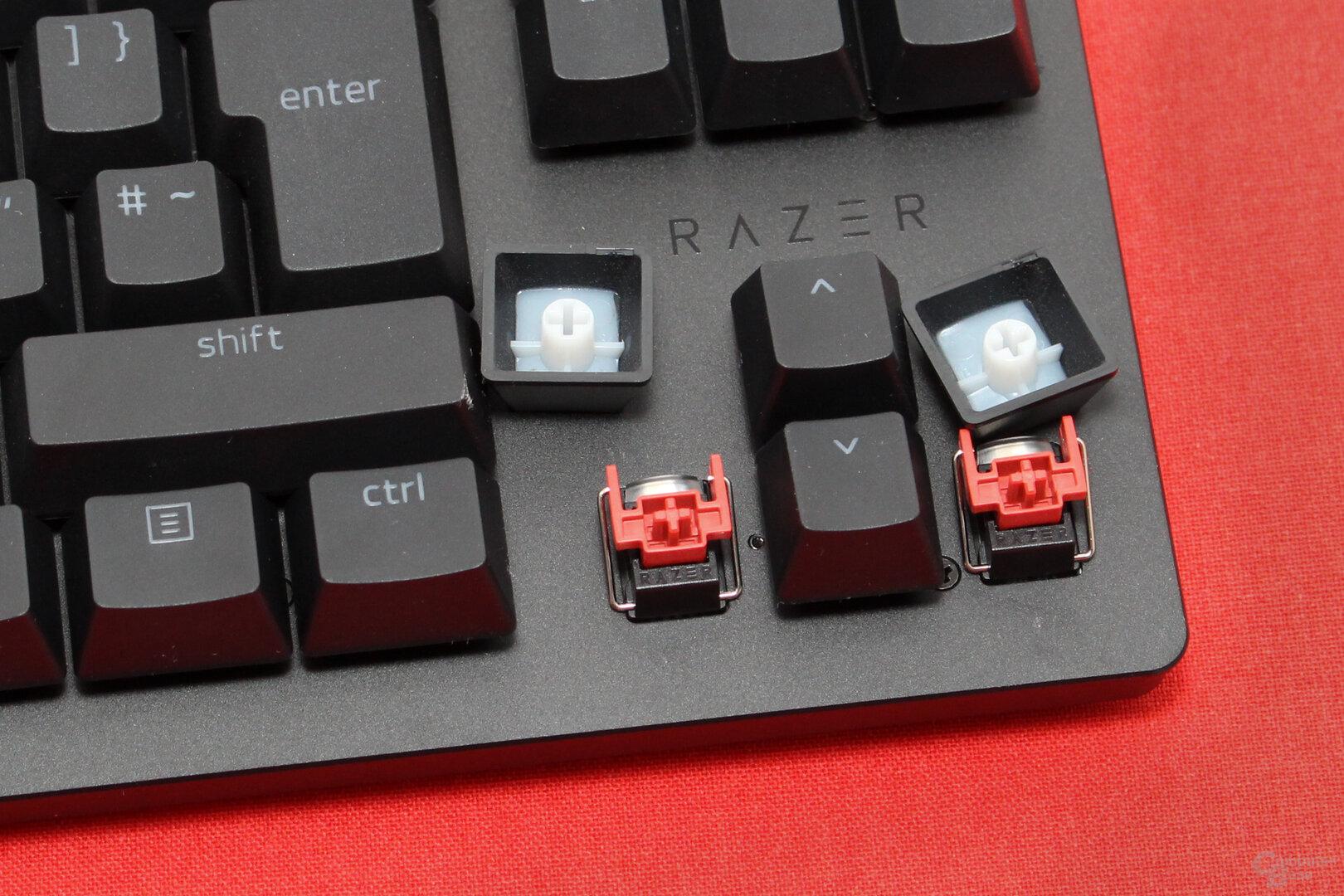 """Razers """"Opto-Mechanical Red"""" lösen sehr früh aus"""