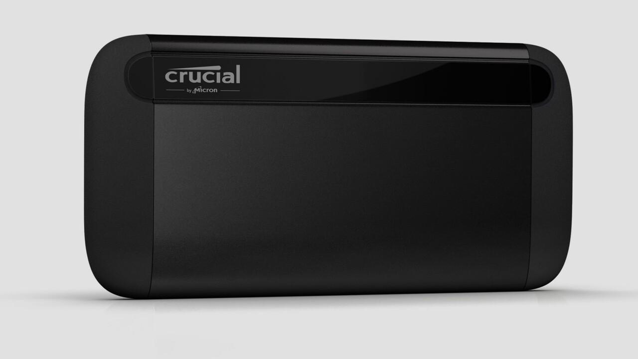 Crucial X8 Portable: Erste externe SSD von Micron liest 1 GB/s via USB 3.2
