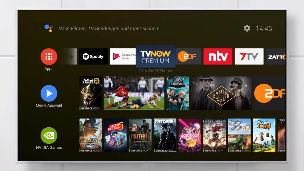Android TV auf der Nvidia Shield