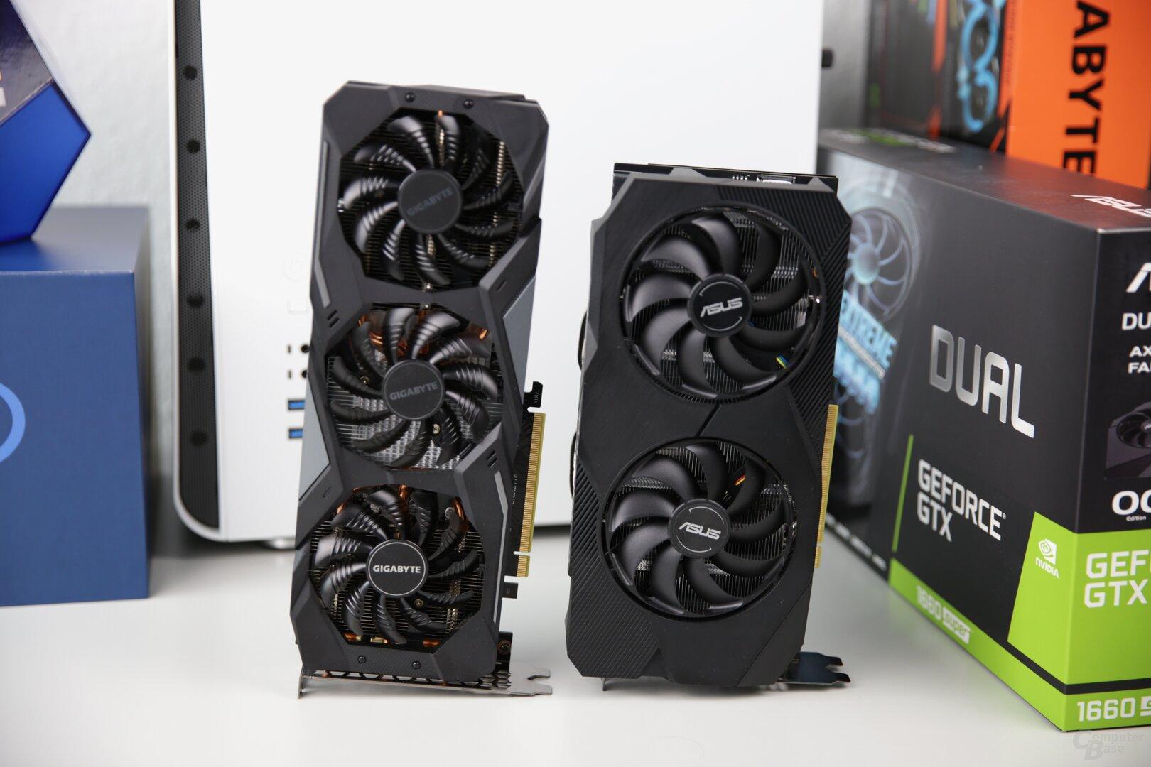 GeForce GTX 1660 Super von Asus und Gigabyte
