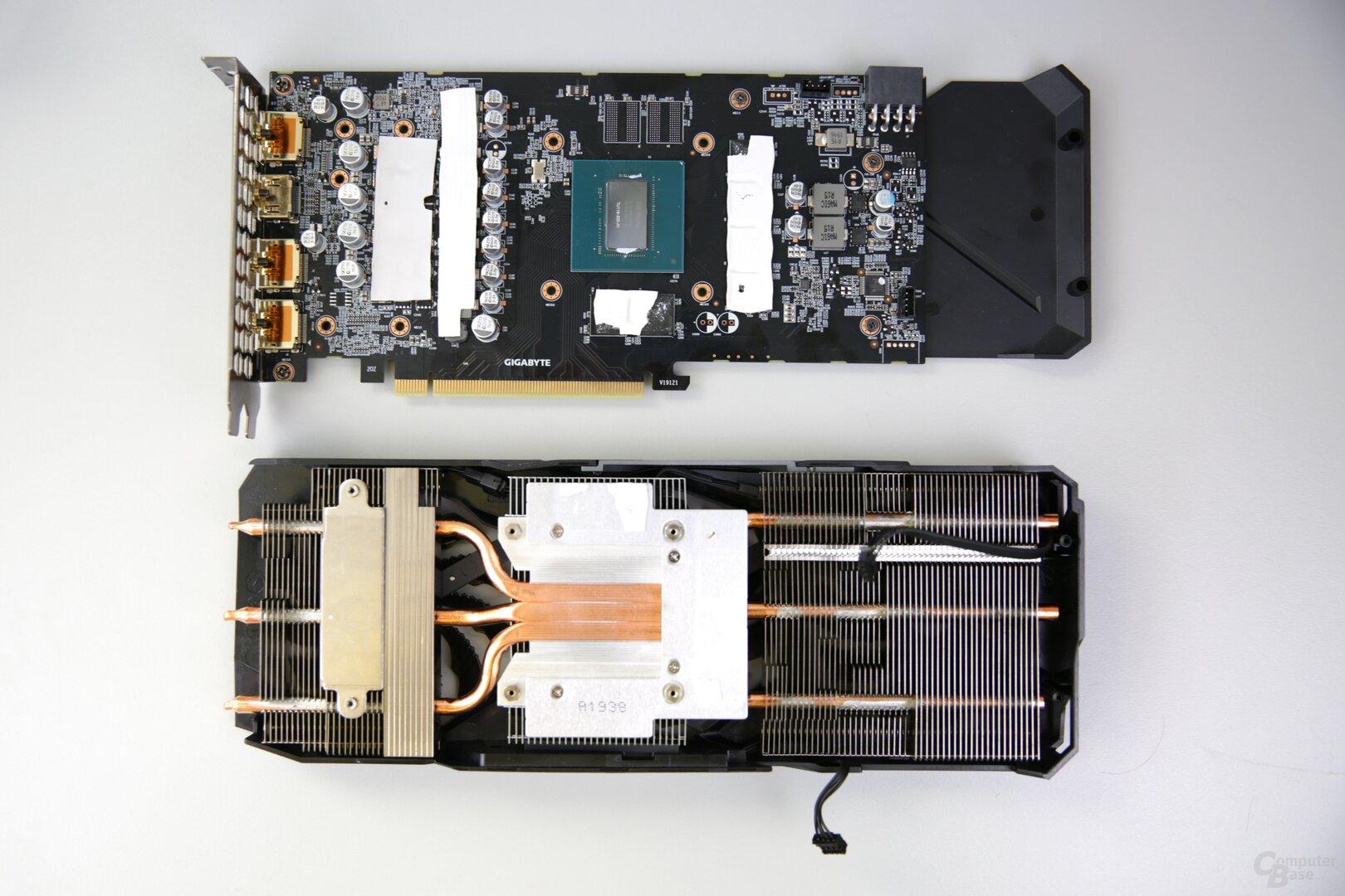 PCB und Kühler der GeForce GTX 1660 Super Gaming OC
