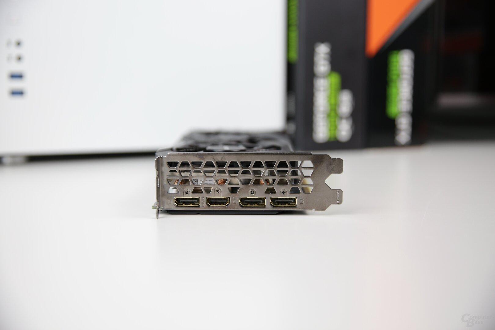 Monitoranschlüsse der Gigabyte GeForce GTX 1660 Super Gaming OC