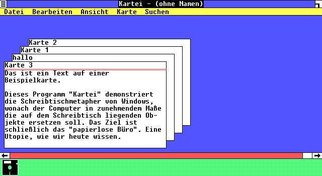 """Der """"virtuelle Karteikasten"""" in Windows 1.x"""