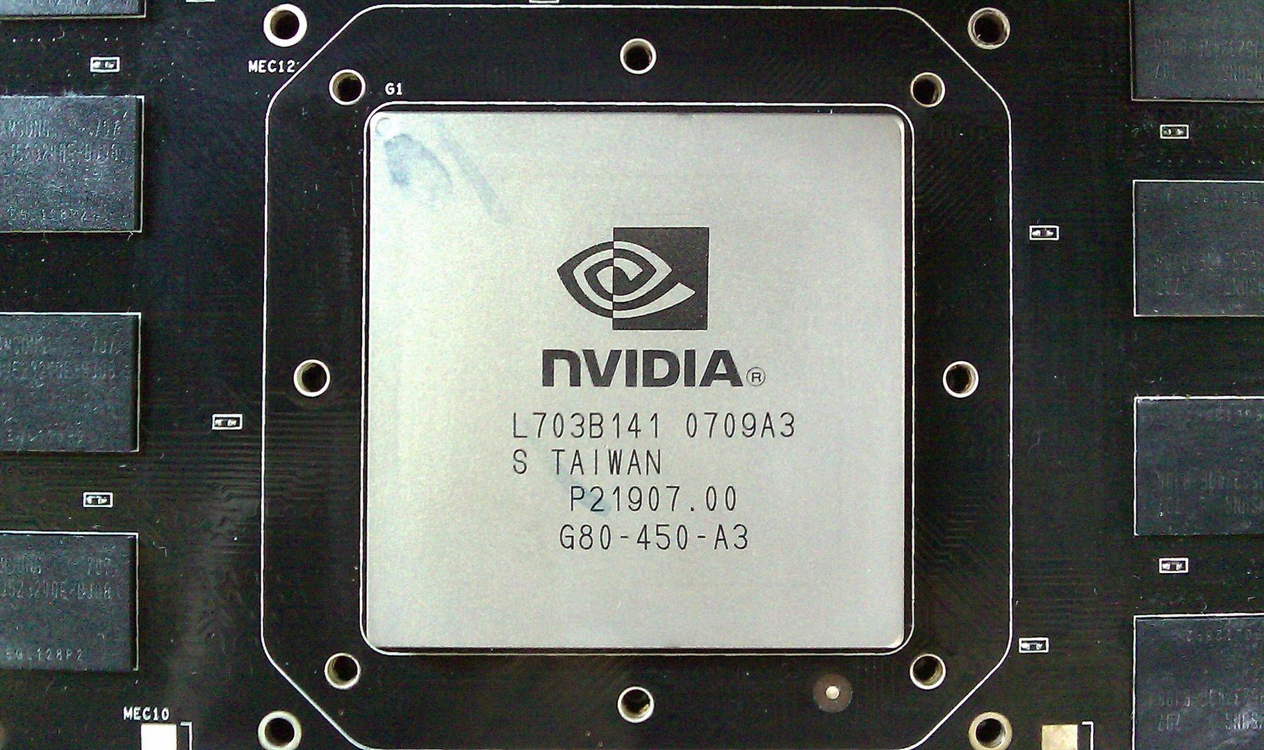 Der G80-450-A3 mit 24 ROPs, 128 Stream-Prozessoren und 681 Millionen Transistoren