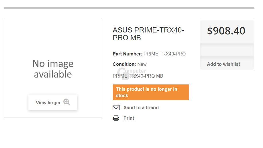 Australische Händler preisen TRX40-Mainboards an