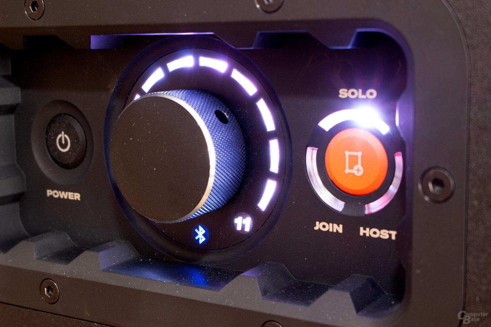 Das Kontrollzentrum der neuen Soundboks – Spinal-Tab-Fans werden ihre Freude haben