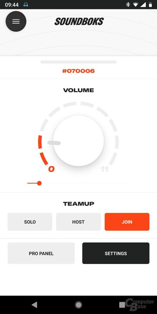 Die App der neuen Soundboks verfügt nur über wenige Funktionen