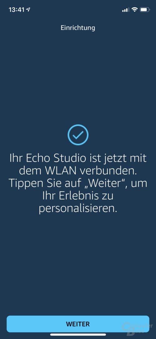 Einrichtung des Echo Studio in der Alexa-App