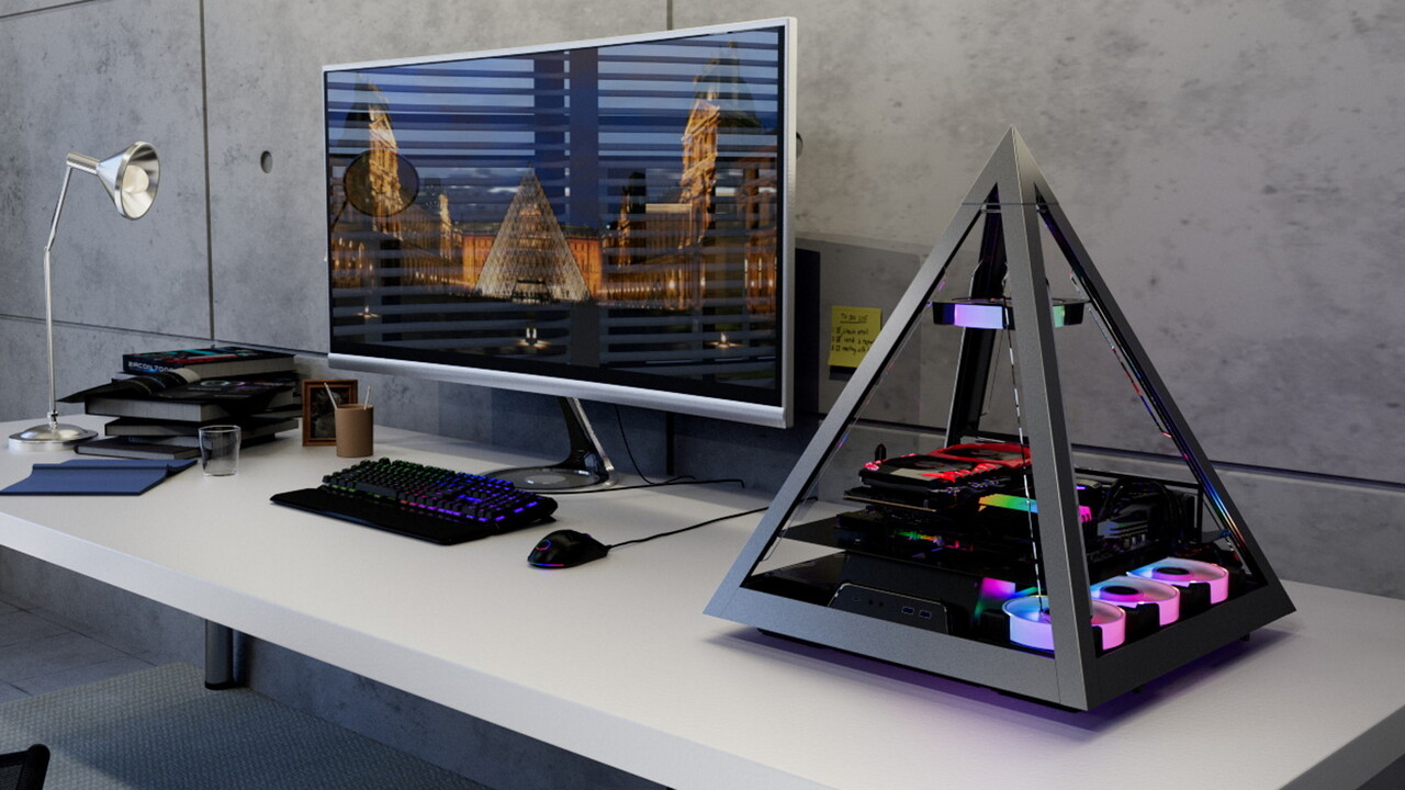 Azza Pyramid 804: Diese Pyramide verstaut Hardware