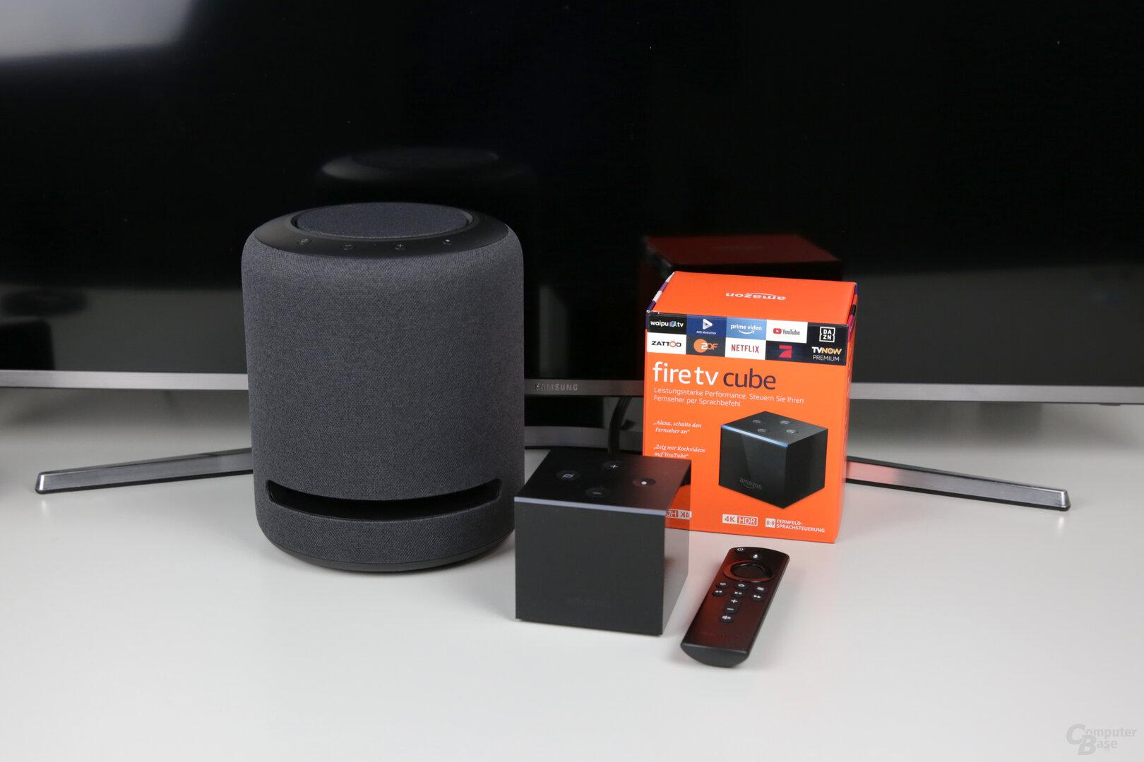 Amazon Echo Studio als Lautsprecher für den Fire TV Cube