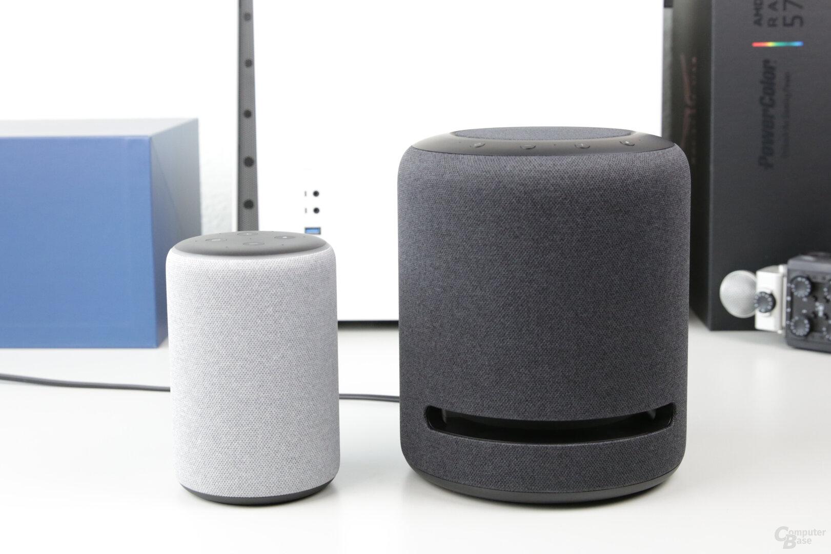 Amazon Echo Studio neben Echo