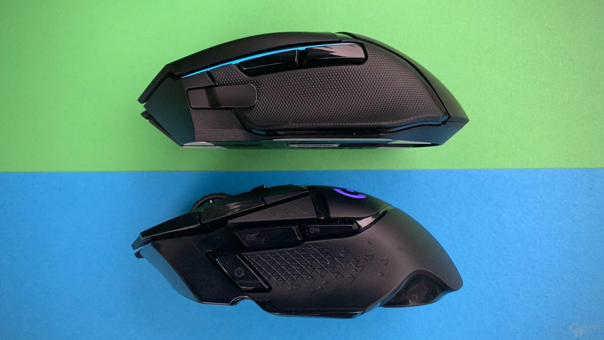 Razer Basilisk Ultimate & Logitech G502 Lightspeed