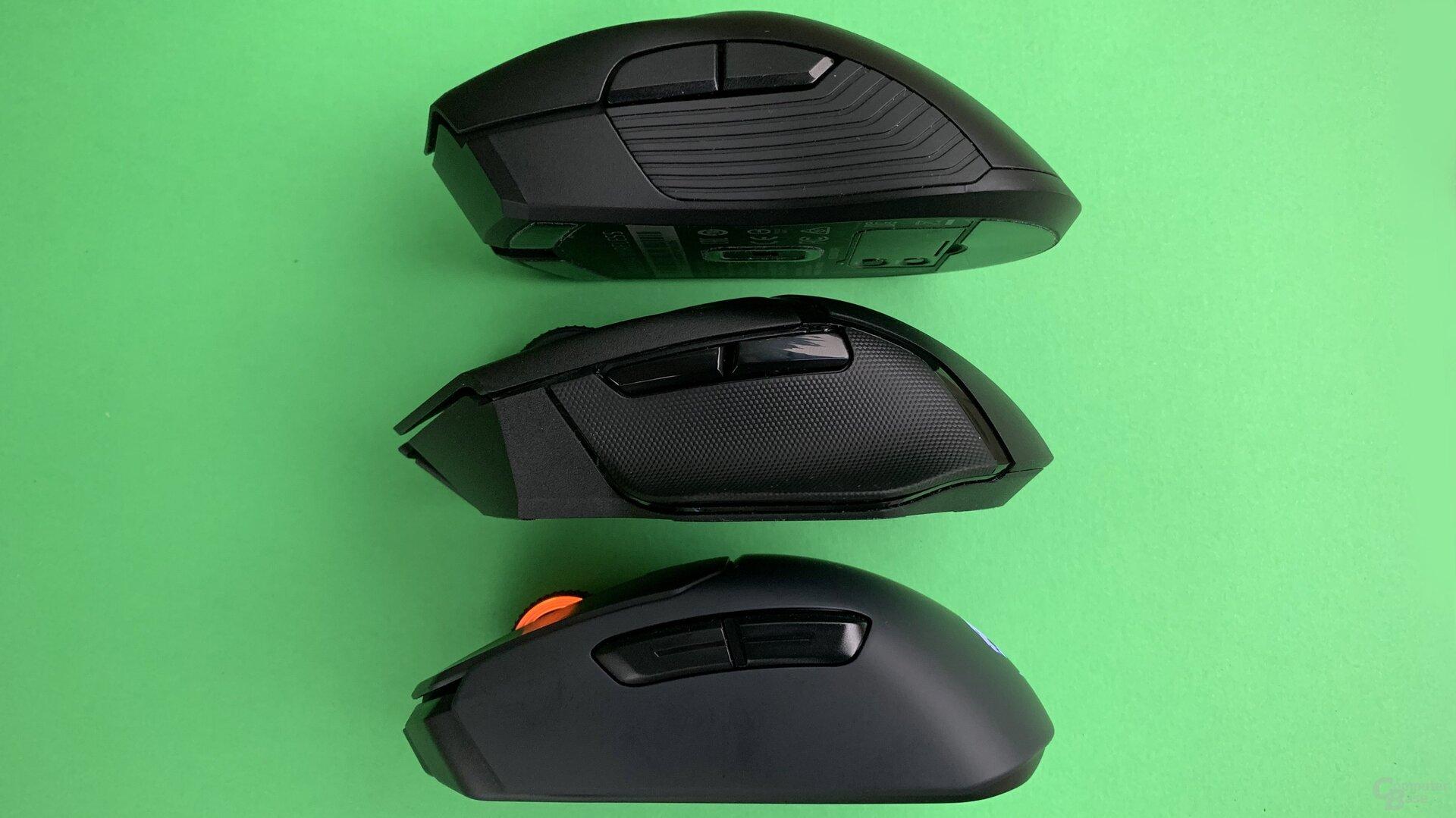 Razer Mamba Wireless, Razer Basilisk X HyperSpeed & Roccat Kain 200 Aimo