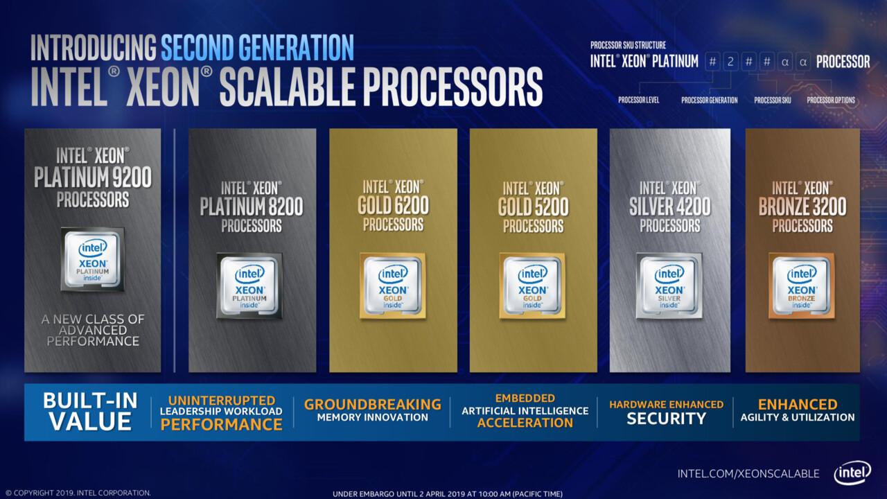 Nach 7 Monaten: Intel stellte erste Cascade Lake-SP ein