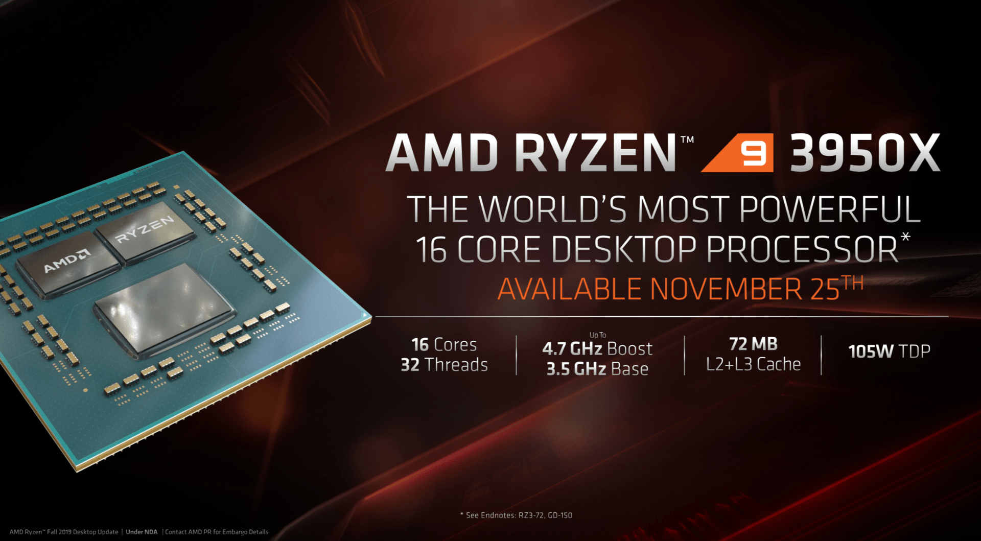 AMD Ryzen 9 3950X ab 25. November