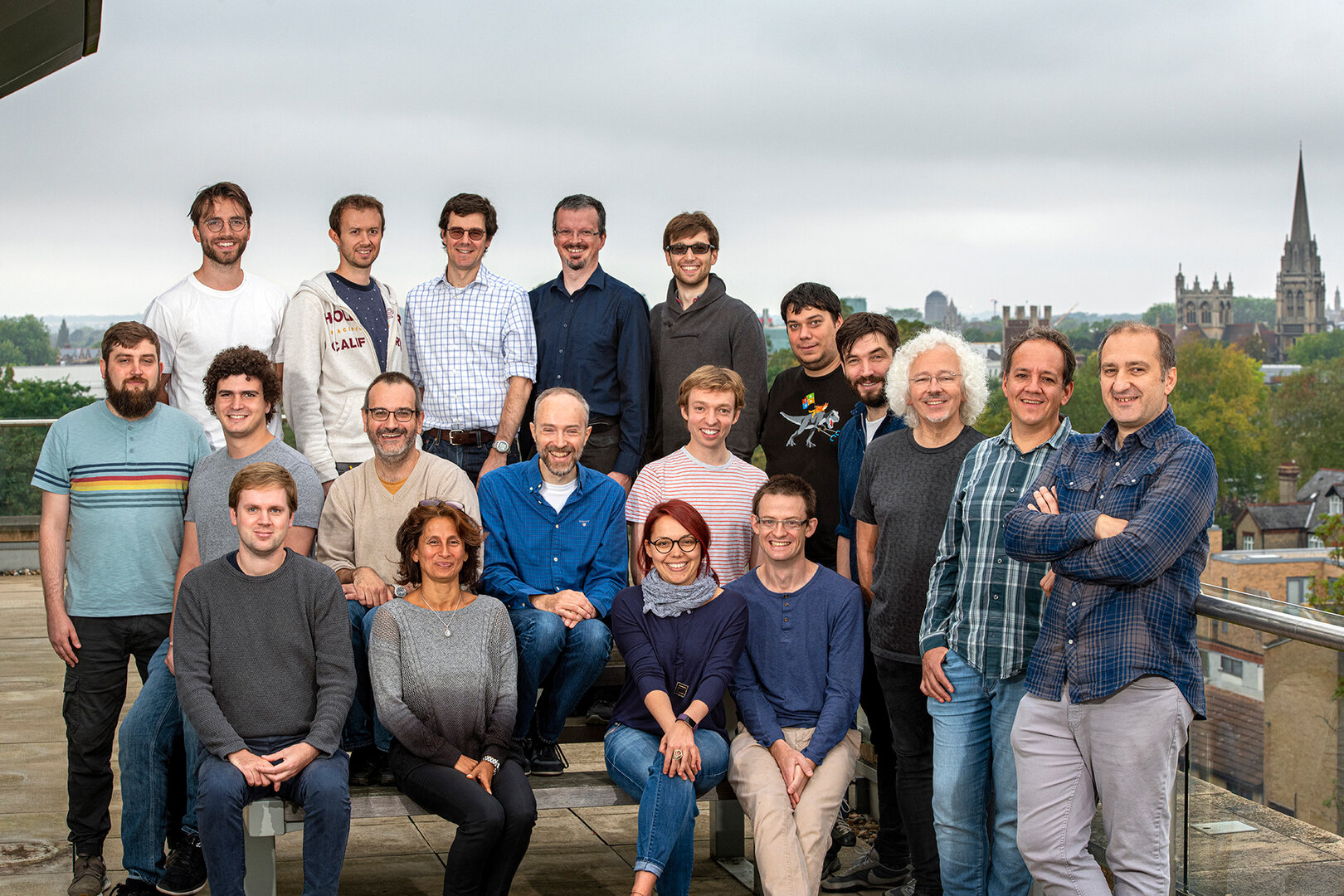 "Das Team des ""Project Silica"" bei Microsoft Research Cambridge"