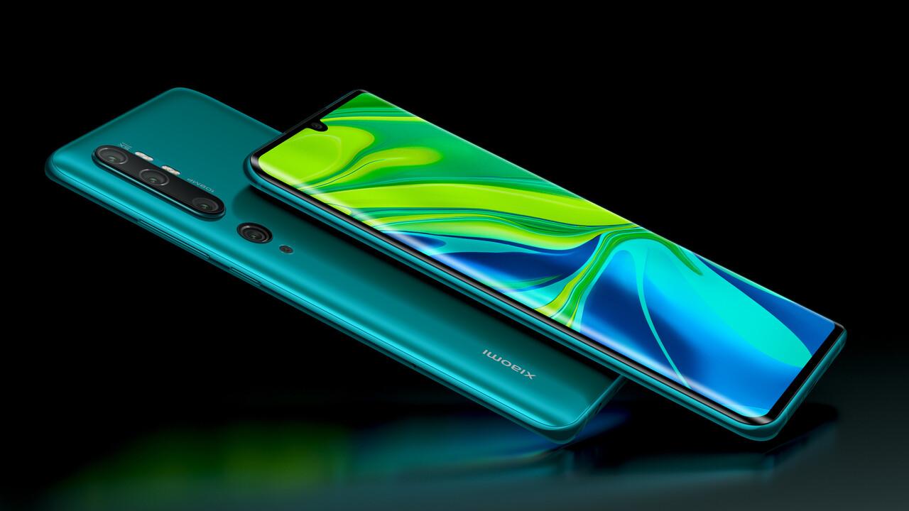 Xiaomi Mi Note 10: Fünf Kameras und 108 Megapixel kosten ab 549 Euro