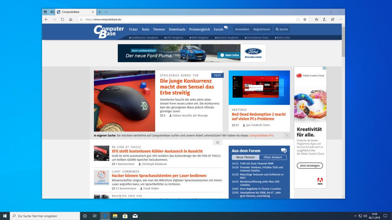 Betriebssystem: 50 Prozent der Aufrufe auf ComputerBase mit Windows 10