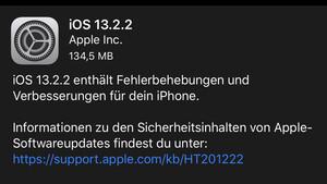 iOS 13.2.2: Apple behebt Multitasking-Probleme