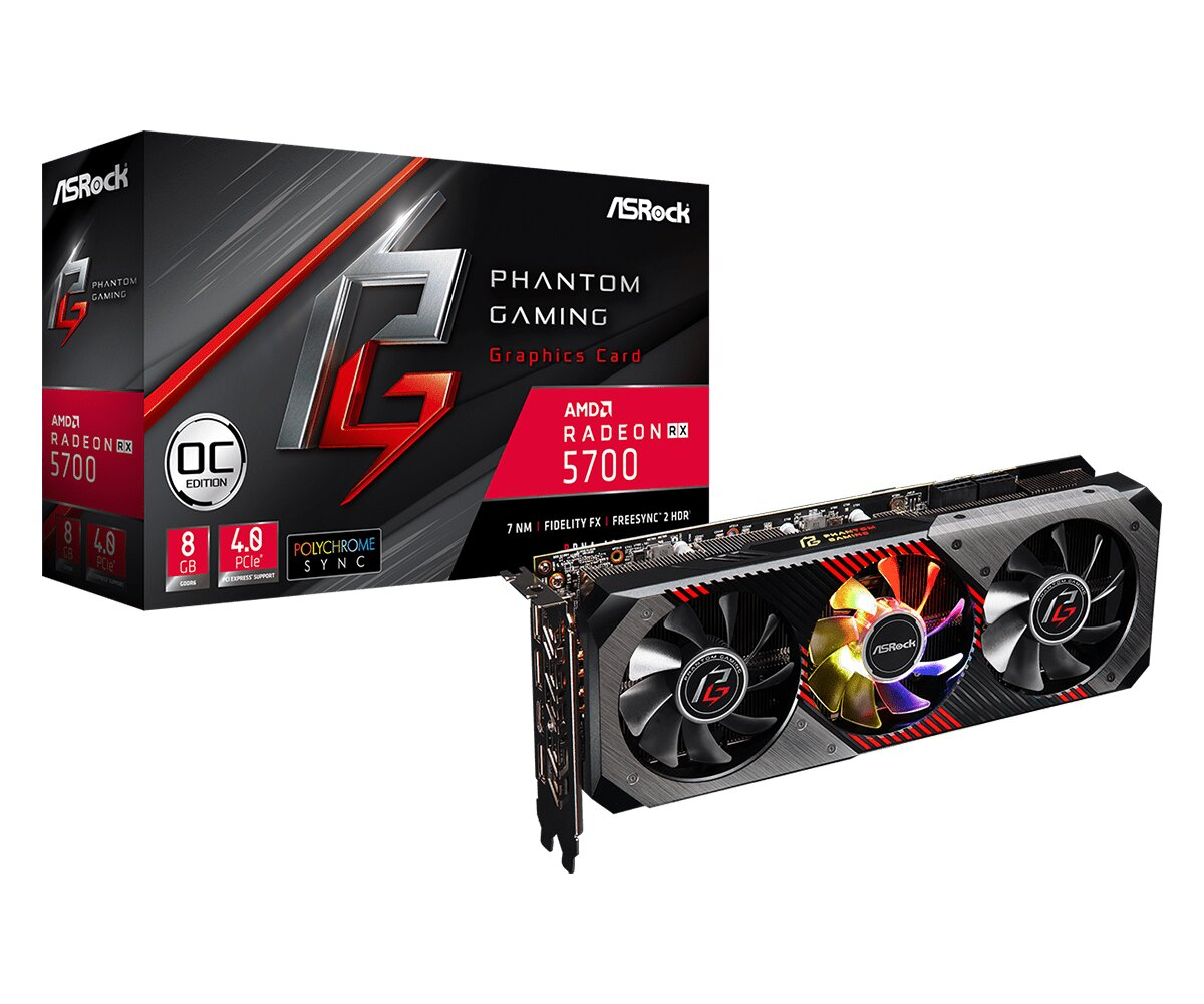 Radeon RX 5700 Phantom Gaming D 8G OC