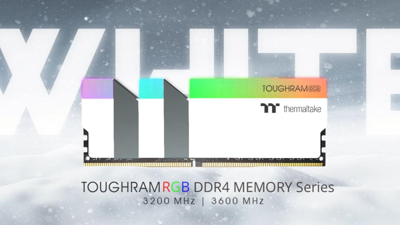 Toughram RGB White Edition: 16-GB-Kits mit DDR4-3600 & DDR4-3200 von TT in Weiß