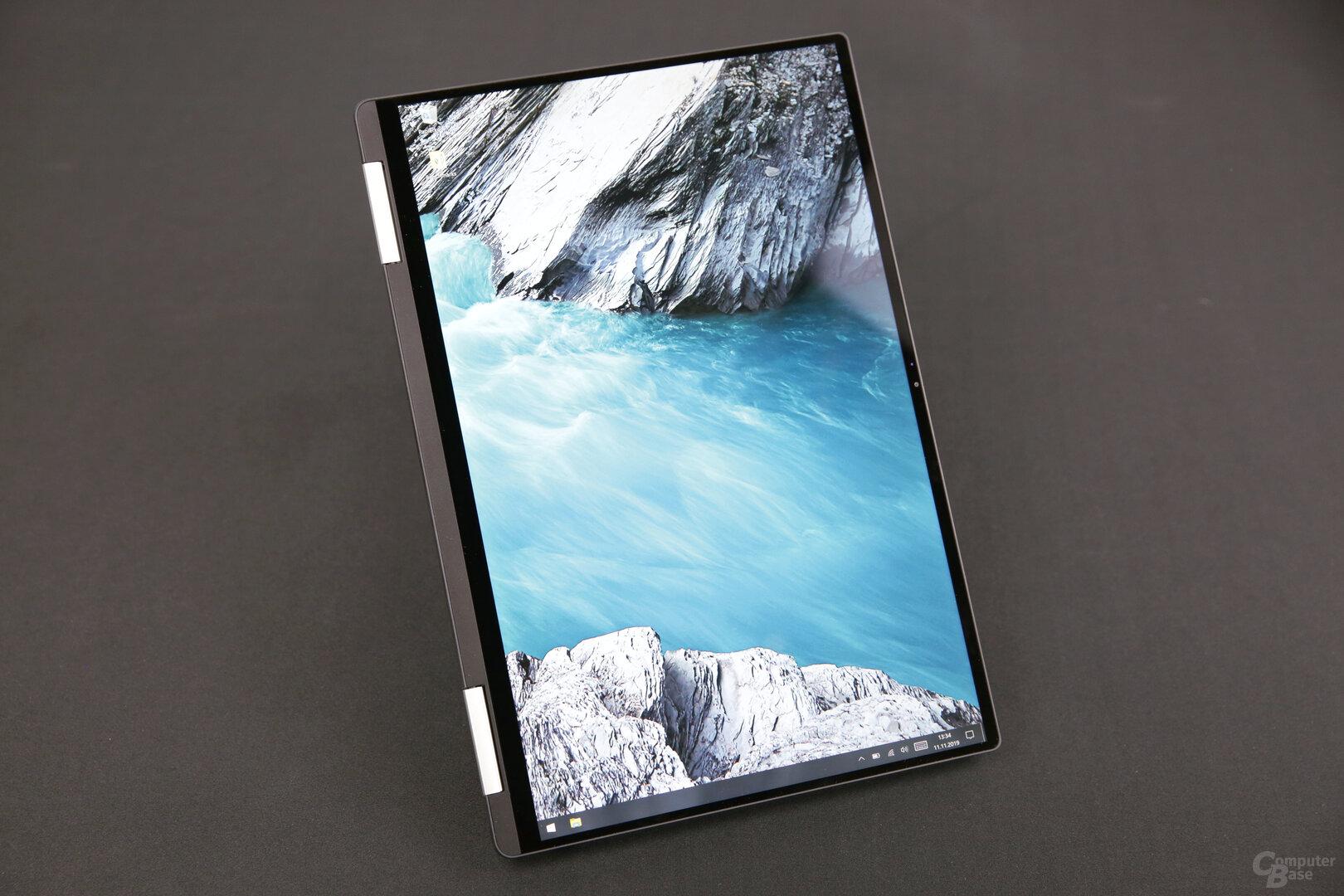 XPS 13 2-in-1 im umgeklappten Tablet-Modus