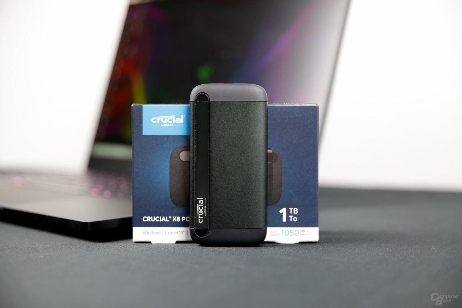 Die Crucial X8 Portable SSD im Test