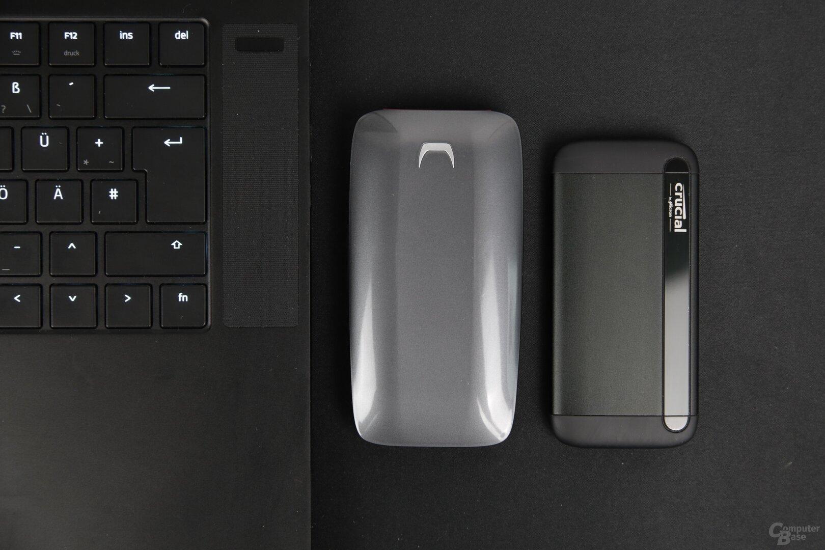 Externe SSDs: Samsung Portable X5 vs. Crucial X8 Portable