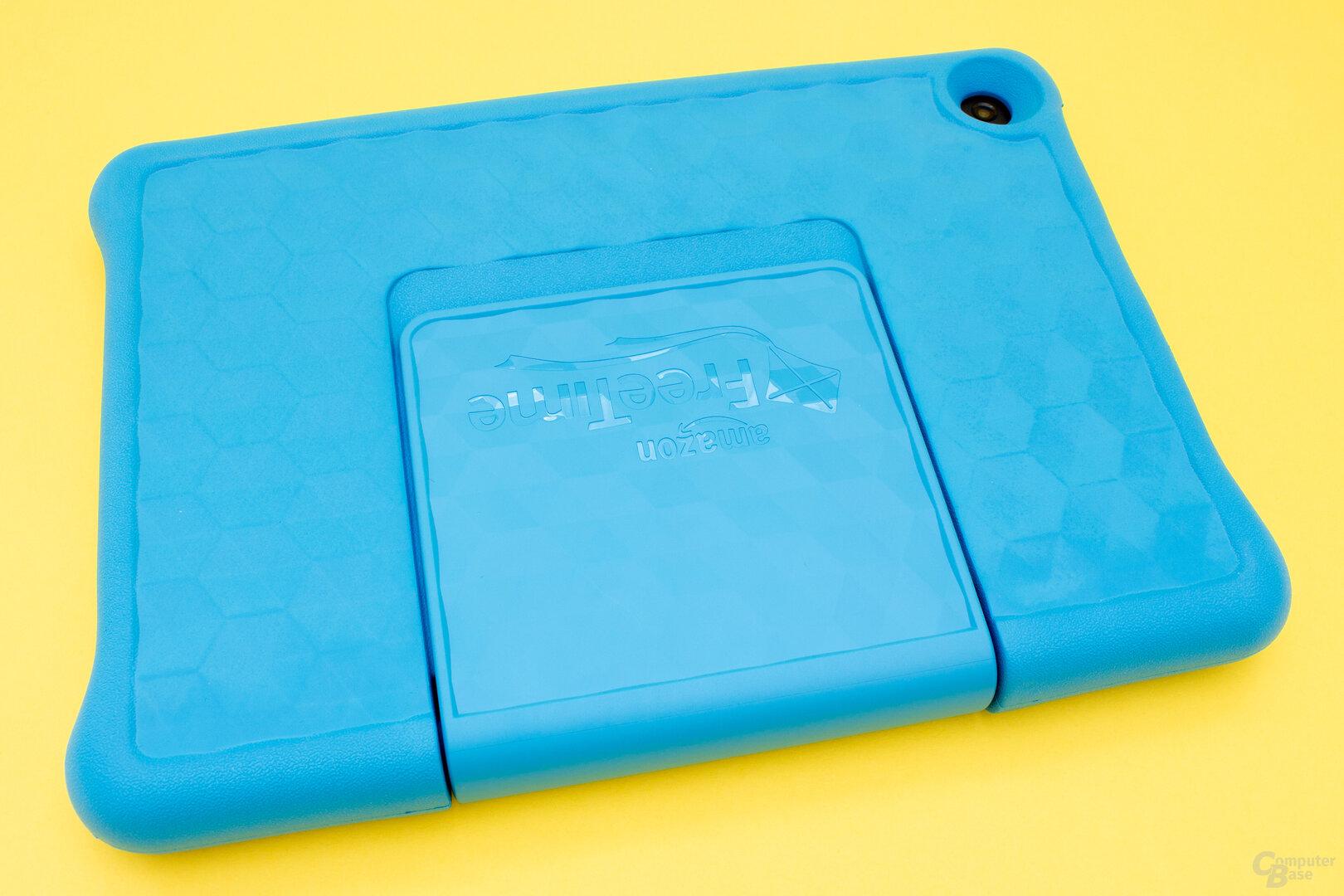 Mit eingeklappten Ständer lässt sich das Fire HD 10 wie ein normales Tablet nutzen