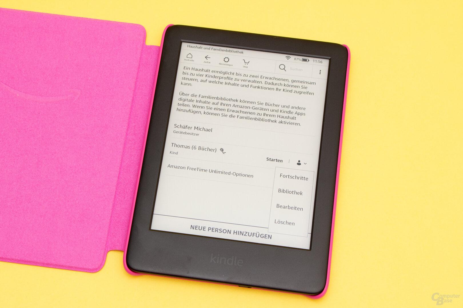 FreeTime auf dem Kindle bietet nur wenige Einstellungen