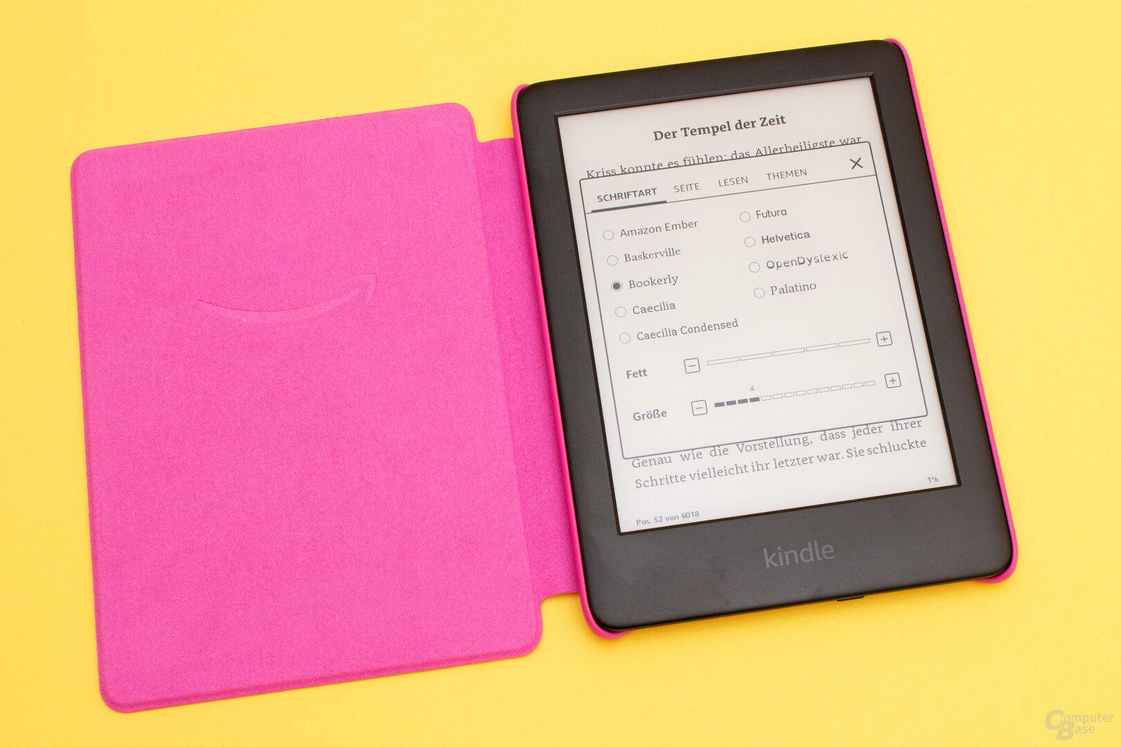 Die Leseeinstellungen sind bei der Kids Edition identisch zum normalen Kindle