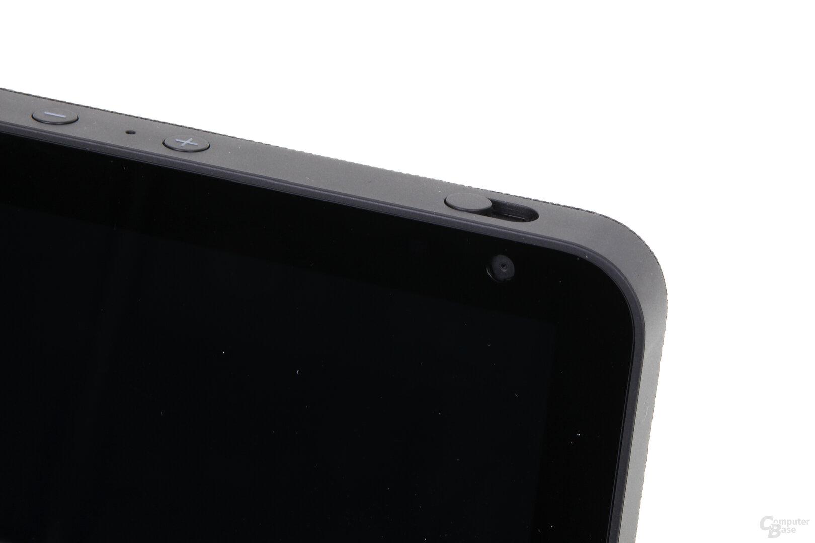 Amazon Echo Show 8: Schalter zum Abdecken der Kamera
