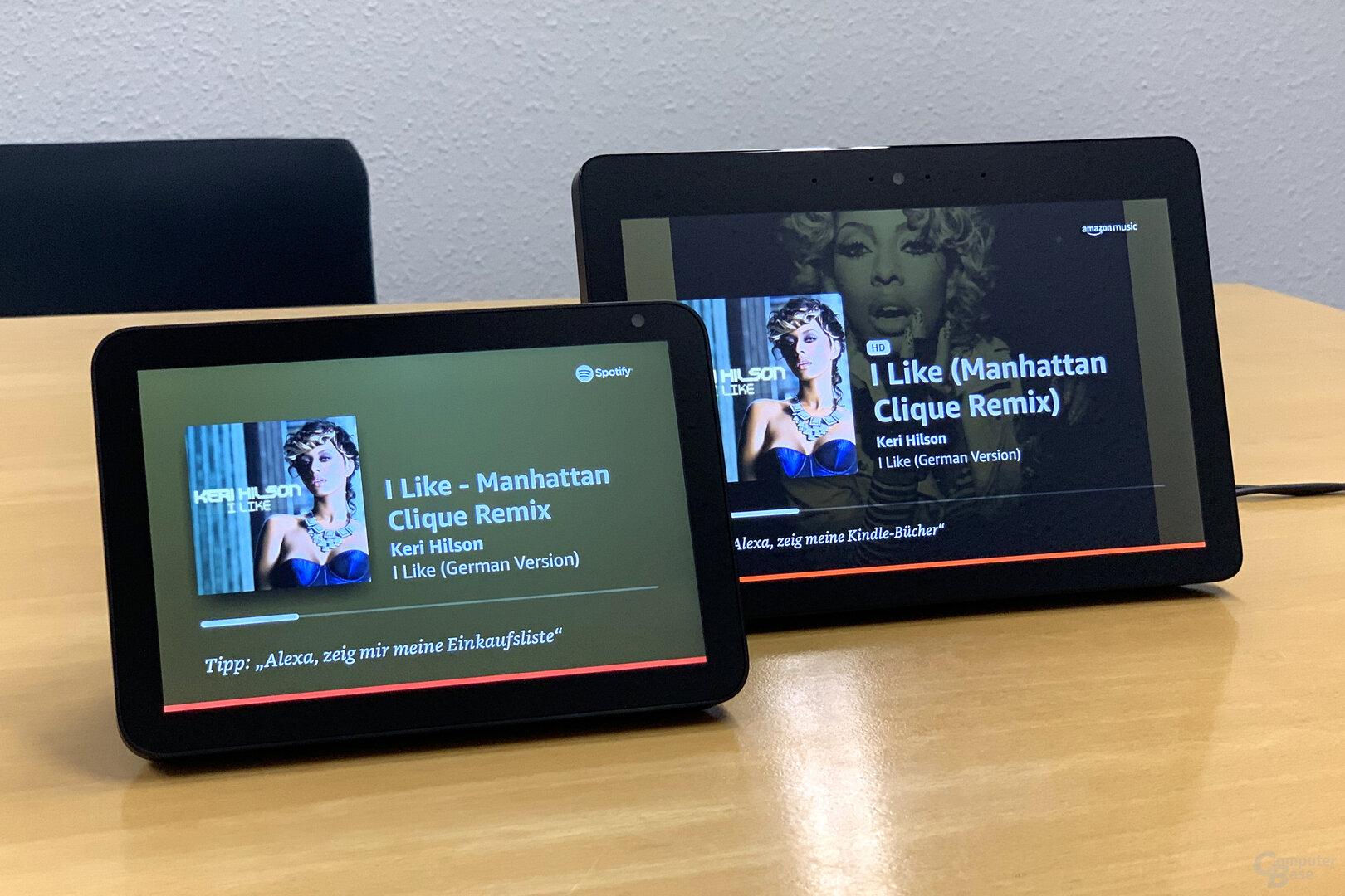 Amazon Echo Show 8: Musikstreaming problemlos
